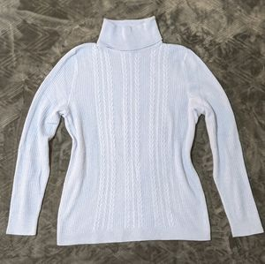 Talbots Cable Knit Turtleneck Sweater